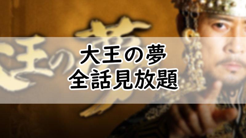 大王の夢全話見放題無料視聴